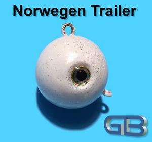 Norwegen-Trailer-50g-75g-90g-115g-140g-170g-Sea-Trailer-Kugelblei-mit-Ose