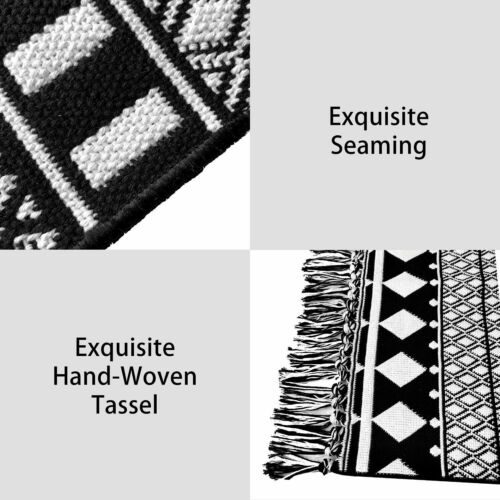 iohouze Boho Rugs Geometric Moroccan Bath Throw Rug Tassel Kitchen Mat 2/'x3/' ft