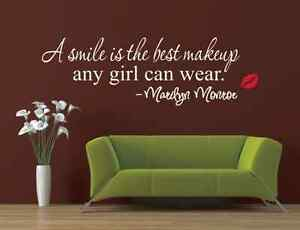 a smile is the best makeup marilyn monroe word wall stickers uk 202