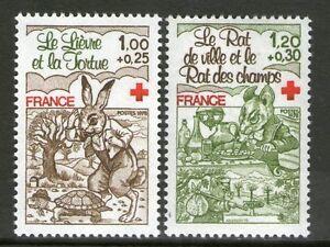 TIMBRES-2024-2025-NEUF-XX-LUXE-CROIX-ROUGE-FABLES-DE-LA-FONTAINE