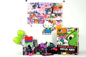 Signed-POSE-Hello-Kitty-Little-Brush-Art-Print-Tokyo-Pop-Collection-MORE