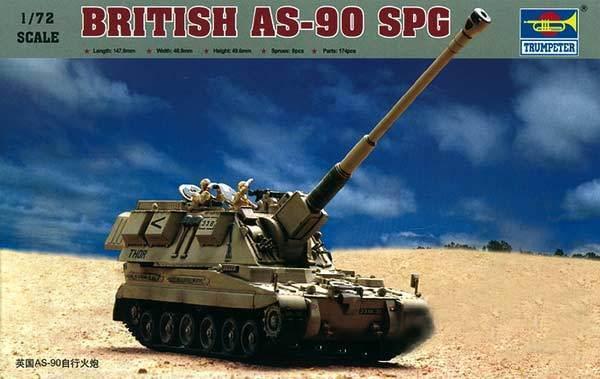 Trumpeter AS-90 SPG British EJÉRCITO Obús modelo equipo de construcción 1 72 kit