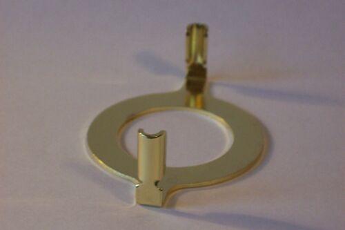 BRASS PLATED HARP BASE FOR BAKELITE SOCKETS WITH RING LAMP PART NEW 12774JB