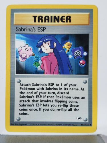 Gym Heroes Pokemon Card $1 Combined Shipping Sabrinas ESP 117//132 LP