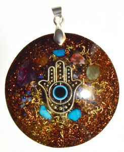 Orgone pendant necklace - EMF protection, Tesla ,chakra ...