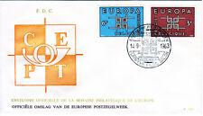 Belgien 1320-21 FDC-Posthorn, CEPT 1963