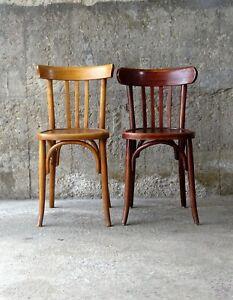 Lot de deux chaises Bistrot Baumann 1940, (no Fischel )