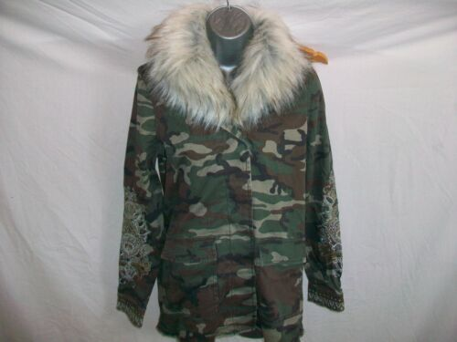 RIVER ISLAND  GIRLS//LADIES COMBAT  STYLE  JACKET WITH REMOVABLE  FUR  COLLAR 6