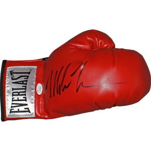 Mike-Tyson-Autographed-Boxing-Glove-Red-signed-with-JSA-COA-and-Holofoil