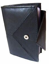 Black Stylish Leather Credit Card Holder - Holds 20 Cards Smart Card Case