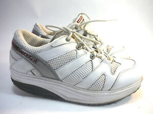MBT SPORT 041 white round sole walking athletic shoes 6 Men FREE ... 183bf3a3b2fa