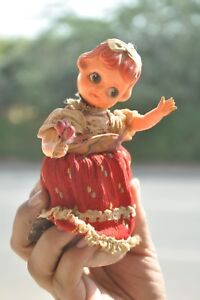 Vintage-Wind-Up-Doll-Playing-Dancing-Celluloid-amp-Tin-Toy-Japan