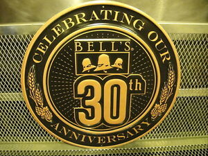 Bells brewing michigan ~ 30th anniversary logo sign beer advertising
