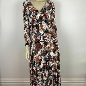 Blue Illusion Womens Multicolor Long Sleeve V Neck Flared Dress Size XS A8