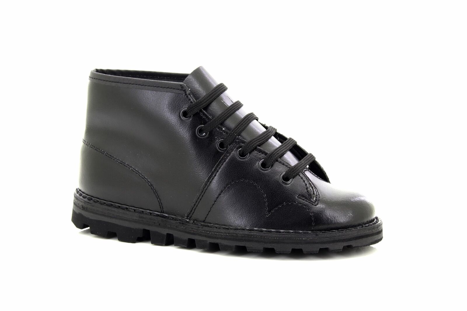 Grafters Unisex Original Retro Encaje Mono botas Años 1960 Negro Estilo