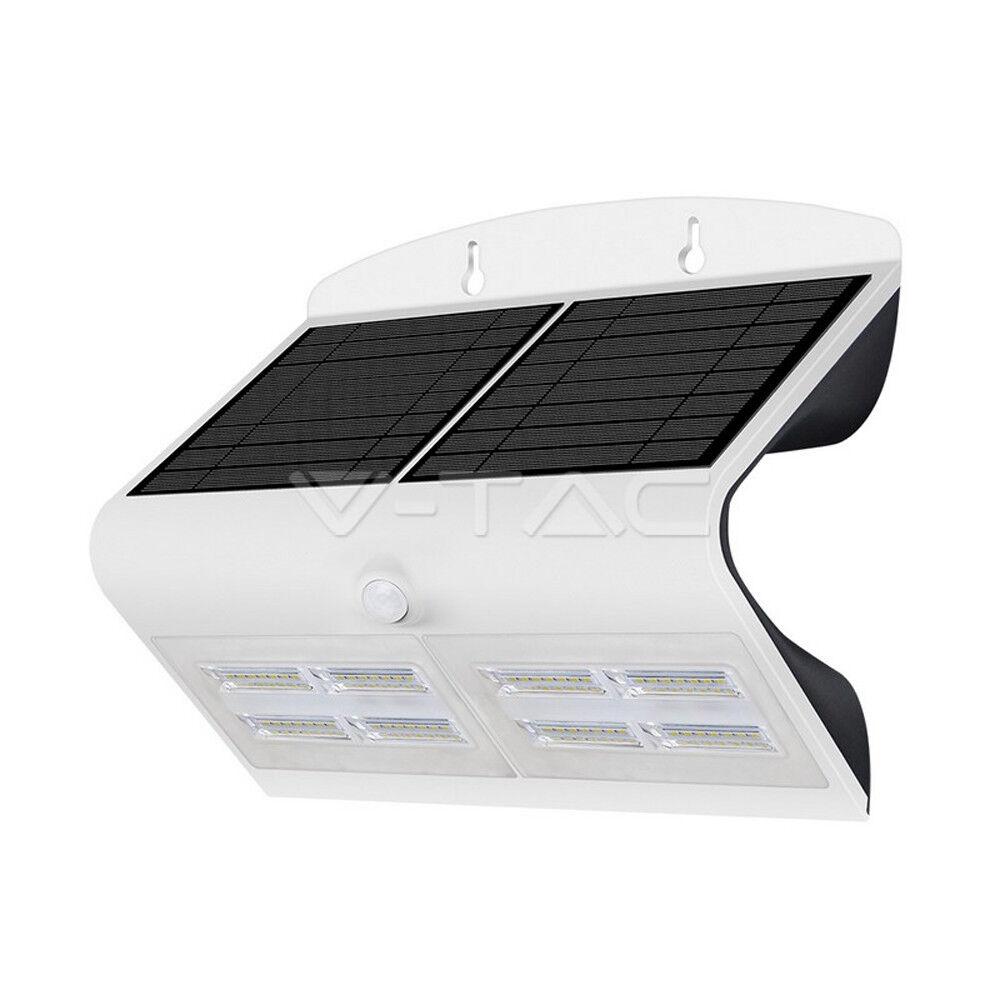 LED Solar Powerot Wall Light PIR Security Light Weiß 7W 800Lm