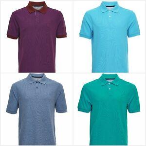 Fa-M-ou-S-High-Street-Store-Men-039-s-Short-Sleeve-Polo-Shirt-T-Shirt-100-Cotton