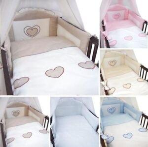 3 Teilig Baby Bettwäsche Nestchen Set Decke Kissen Bezug Für