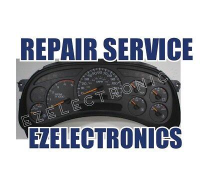 2002 to 2009 CHEVROLET TRAILBLAZER  Instrument Cluster Repair Service 2003 2004