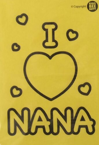 Kids BEE HAPPY sable art photo A6 I Love You Nana 3 Sable Tubes
