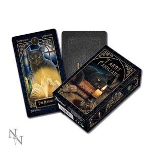 Nouveau LISA PARKER Tarot Deck familier cartes Gothic Fantasy Mitt-Lecteur Pythie  </span>