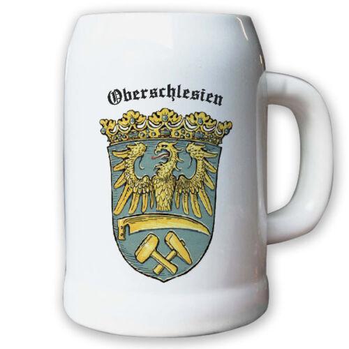 Provinz Oberschlesien Landeswappen Stadtwappen #9492 Bierkrug 0,5l Krug
