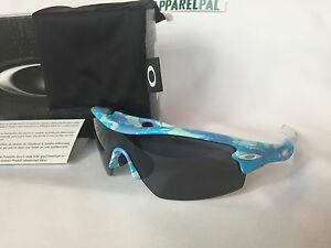 c878988daa07d New Oakley Radar Pitch Sunglasses Blue Night Camo Gray Shield 42-480 ...
