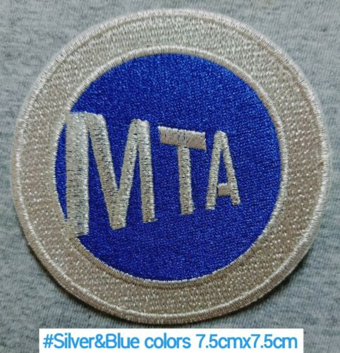 MTA Transfer Train station 7.5cm Patch Logo iron-sew-Decorations on Clothes