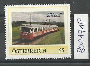 """Österreich PM personalisierte Marke Eisenbahn """"LILO ET 22143"""" ** - St. Pölten, Österreich - Käufer haben das Recht innerhalb von 10 Tagen den gekauften Artikel zurückzusenden. Die Kosten für die Rücksendung trägt der Käufer. - St. Pölten, Österreich"""