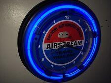 Airstream Motor Home Camper Garage Man Cave Neon Clock Sign