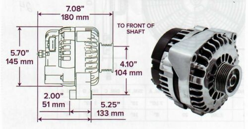 GM LS Truck AD244 220 AMP CHROME ALTERNATOR SERPENTINE BELT 4 Pin Connector