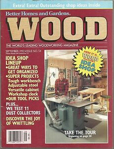 Image Is Loading Wood Magazine Better Homes And Gardens Septenber 1992