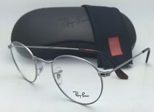 New RAY-BAN Rx-able Eyeglasses RB 6242 2502 47-21 140 Round Gunmetal Frames
