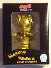 """NARUTO SHIPPUDEN """"NARUTO UZUMAKI"""" 3"""" MININJA GOLD FIGURINE TOYNAMI EXCLUSIVE"""