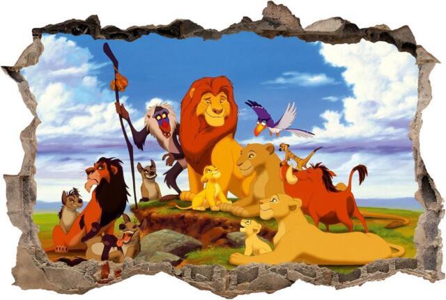 Lion King Simba Mufasa Smashed Wall Sticker Decal Home Decor Art Disney J284