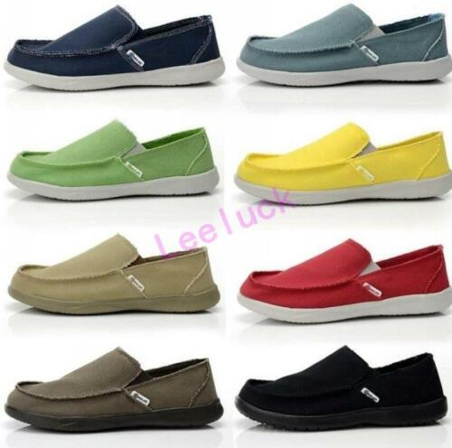 9 Colors Candy Mens Canvas Casual Flats Moccasins Slip On Boat Shoes Loafers Sz