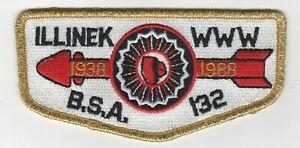 Boy-Scout-OA-132-Illinek-1988-50th-Anniversary-Lodge-Flap