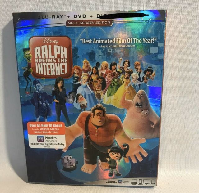 RALPH BREAKS THE INTERNET BLU-RAY + DVD  W/SLIPCOVER