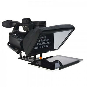 iPad-Tablet-Teleprompter-Kit-Cue-with-Aluminum-Padded-FLIGHT-CASE