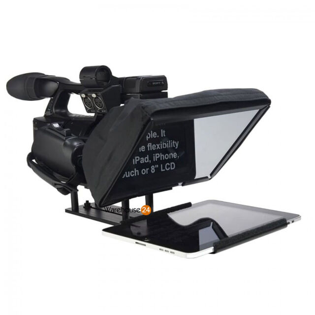 iPad Teleprompter Prompter Kit Cue + Padded Aluminum FLIGHT CASE
