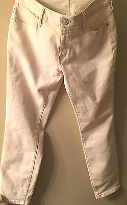 360114 Cotton Blend Ankle Pants Cheapest Price From Our Site Audacious Fossil Pencil Jeans Sz 26 Linen cream