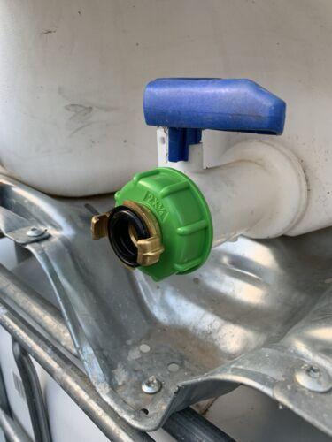IBC Adapter Kappe S60x6 mit 3//4 Zoll GEKA Schnellkupplung für Pumpenanschluss