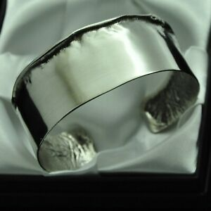 Vintage-Artisan-Boho-Design-Solid-Silver-Cuff-Bracelet