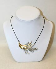 DANICA DENMARK Ladies Sterling Silver 925 & Gold Plated Leaf Pendant Necklace