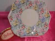 Shelley MELODY CHINTZ  CAMBRIDGE  SHAPE  CAKE OR  SANDWICH  PLATE  #12974 GOLD