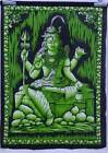 Indian Cotton Lord Shiva Tapestry Wall Poster Ethnic Small Wall Hanging Decor
