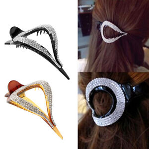 2x-Non-Slip-Womens-Rhinestone-Hair-Clips-Claws-Crystal-Hairpin-Styling-Tools