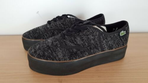 Lacoste Shoes amp; Grey Ladies Uk 4 37 Rene Black Platform Eu rYRAqnYfw