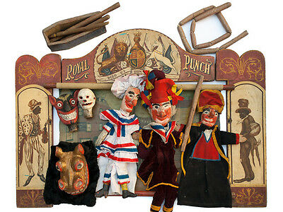 c1860 Punch and Judy Theatre with Puppets