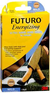 Futuro Ultra Sheer Knee Highs Women, Nude, Large, Mild 8